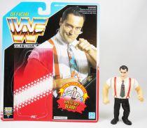 WWF Hasbro - IRS Irwin R. Schyster (loose with USA cardback)