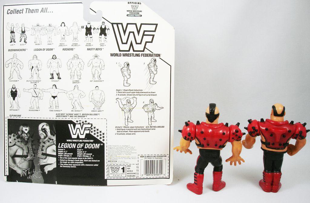WWF Hasbro - Legion of Doom : Animal & Hawk (loose with USA cardback)