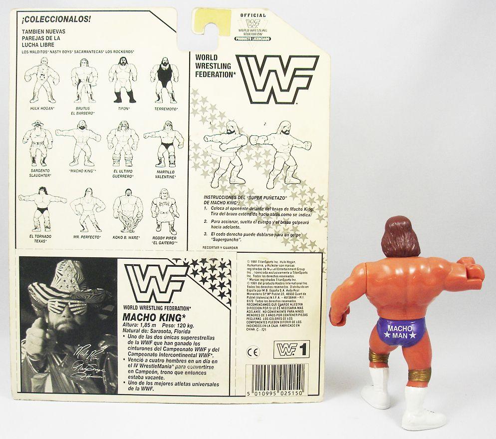 WWF Hasbro - Macho Man Randy Savage v.3 (loose with Spanish cardback)