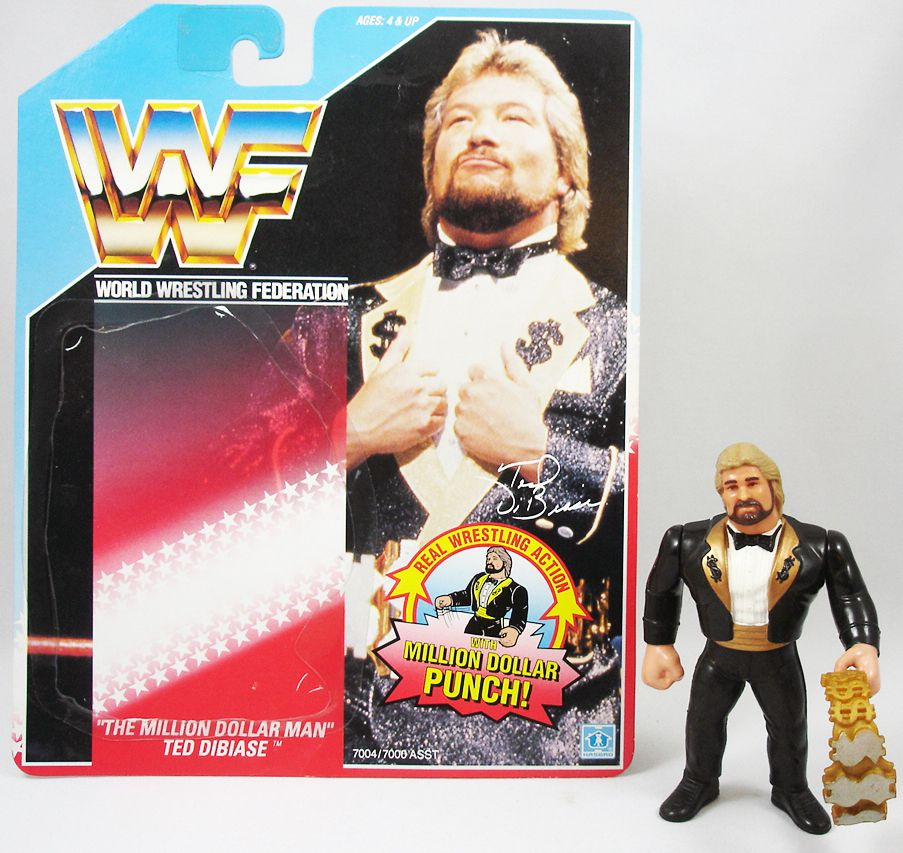 WWF Hasbro - Million Dollar Man Ted DiBiase v.1 (loose with USA cardback)