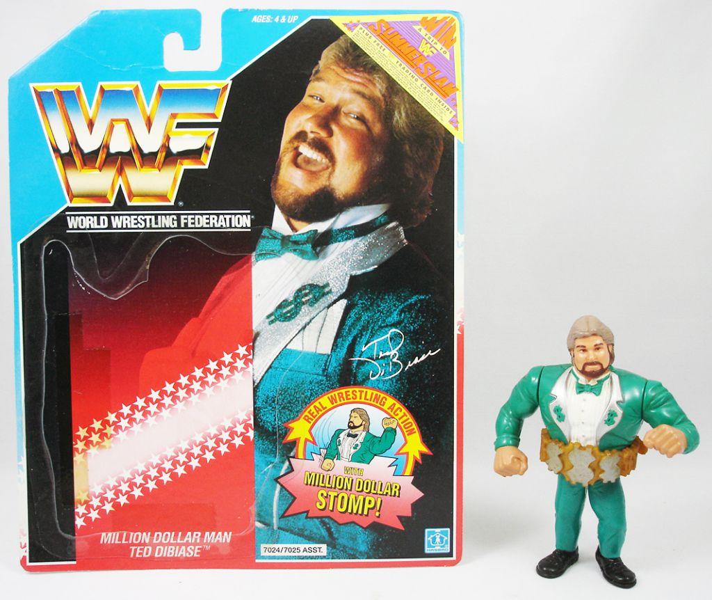 WWF Hasbro - Million Dollar Man Ted DiBiase v.2 (loose with USA cardback)