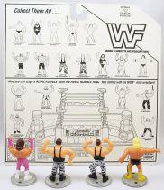 WWF Hasbro - Mini Wrestlers : Brutus Beefcake, Greg Valentine, Bushwhackers Luke & Butch (loose avec carte USA)