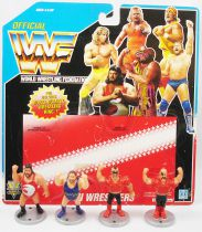 WWF Hasbro - Mini Wrestlers : Typhoon, Earthquake, Hawk, Animal (loose avec carte USA)