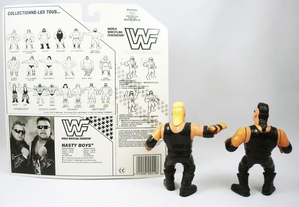 WWF Hasbro - Nasty Boys : Brian Knobbs & Jerry Saggs (loose avec carte FR)