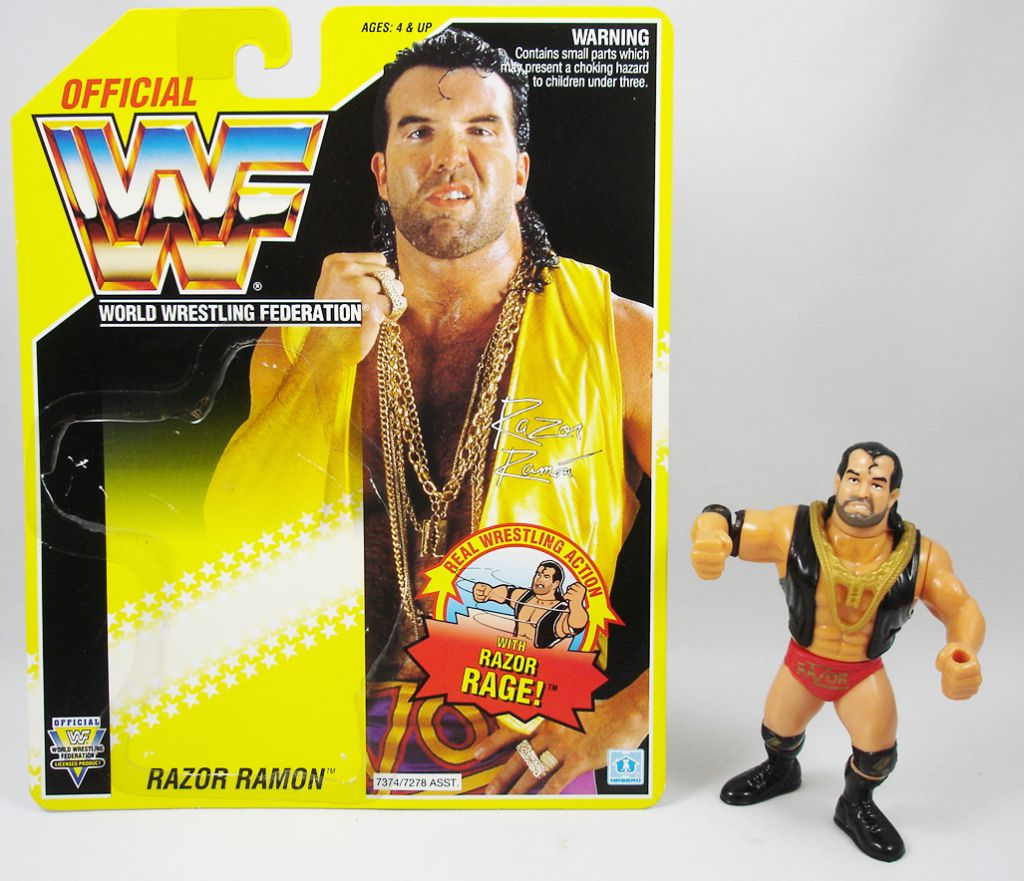 WWF Hasbro - Razor Ramon v.1 (loose with USA cardback)
