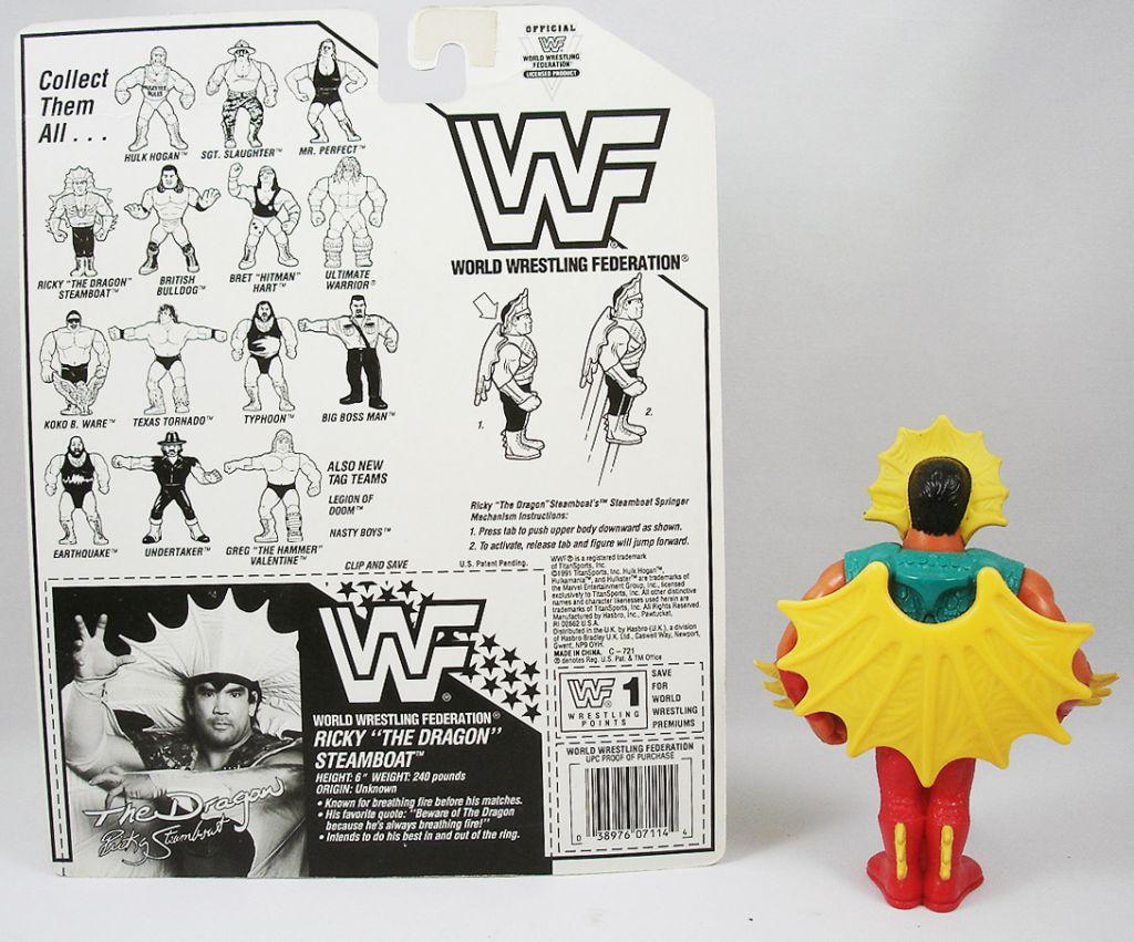WWF Hasbro - Ricky The Dragon Steamboat (loose with USA cardback)