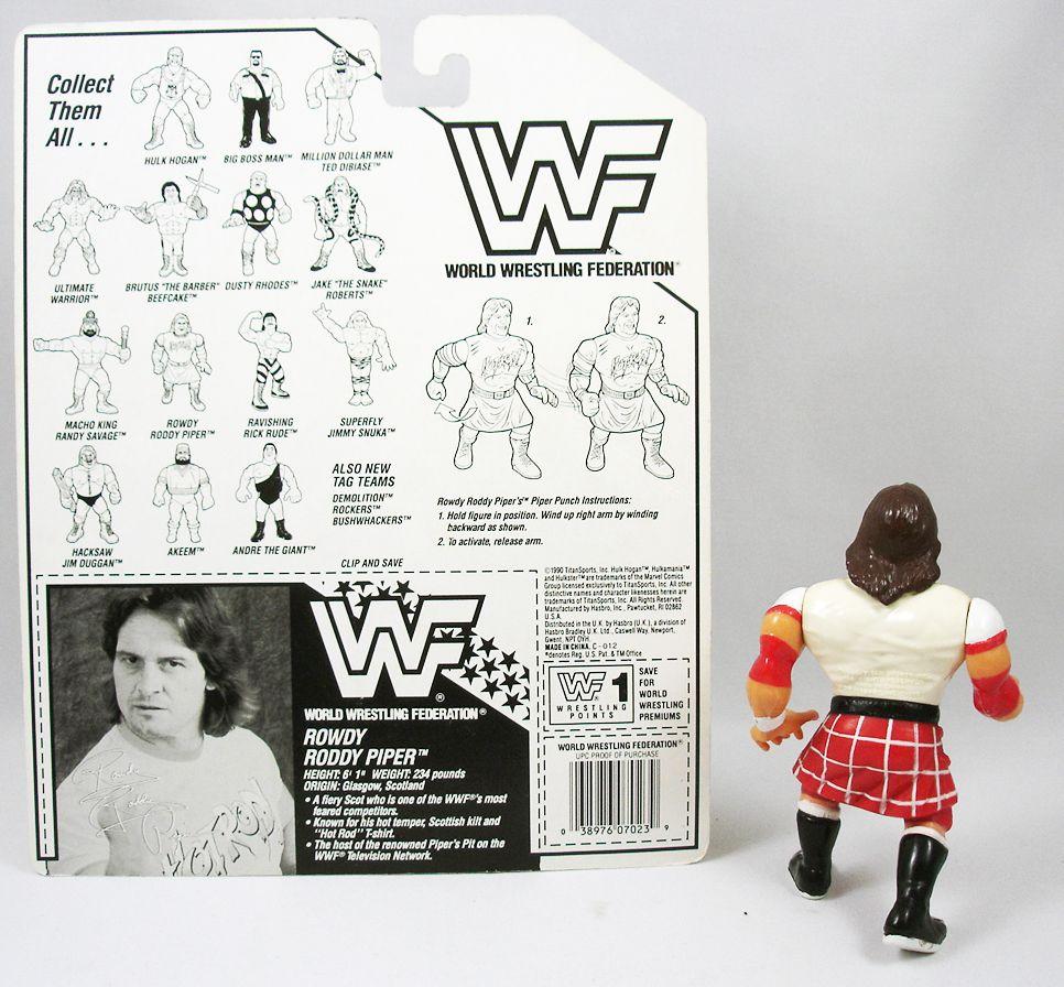 WWF Hasbro - Rowdy Roddy Piper (loose with USA cardback)