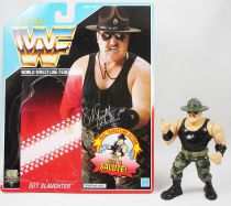 WWF Hasbro - Sgt. Slaughter (loose with USA cardback)
