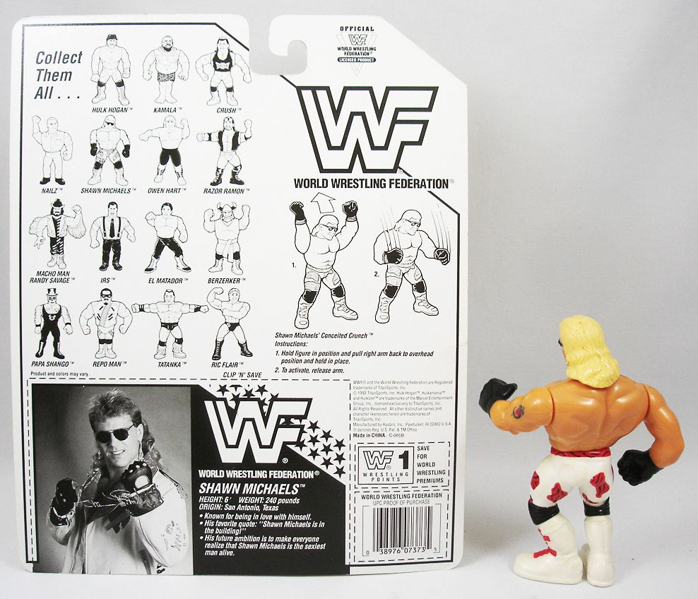 WWF Hasbro - Shawn Michaels v.1 (loose avec carte USA)