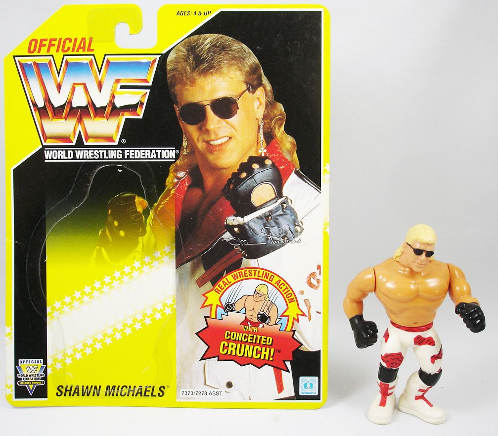 WWF Hasbro - Shawn Michaels v.1 (loose with USA cardback)