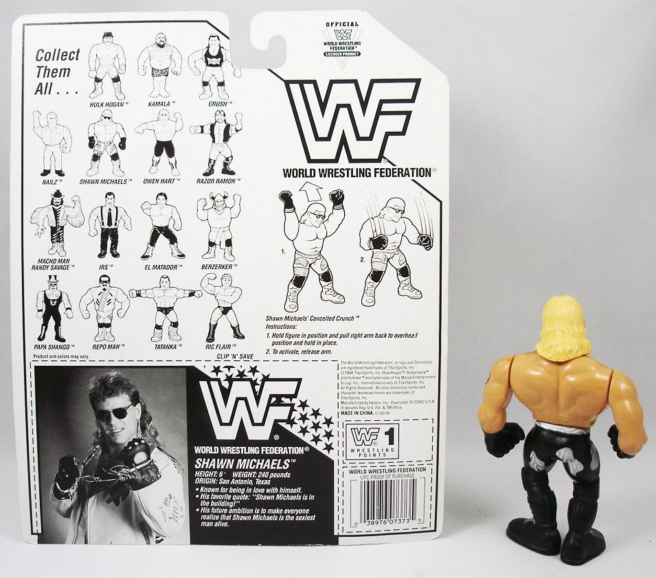 WWF Hasbro - Shawn Michaels v.2 (loose with USA cardback)