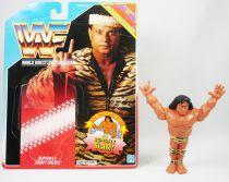 WWF Hasbro - Superfly Jimmy Snuka (loose with USA cardback)