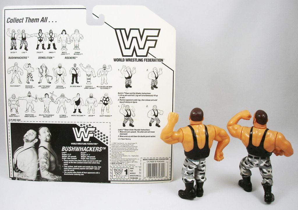WWF Hasbro - The Bushwhackers : Butck & Luke (loose avec carte USA)