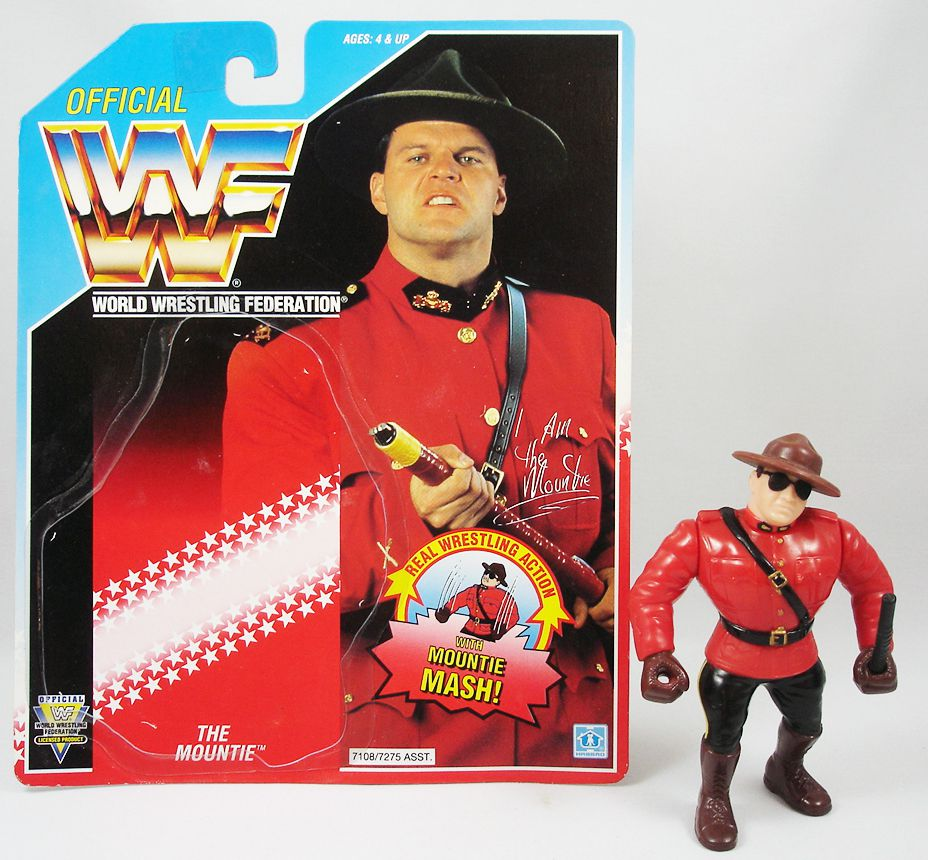 WWF Hasbro - The Mountie (loose with USA cardback)