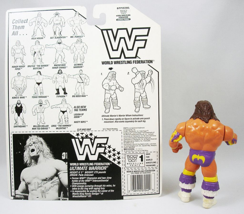WWF Hasbro - Ultimate Warrior v.3 (loose avec carte USA)