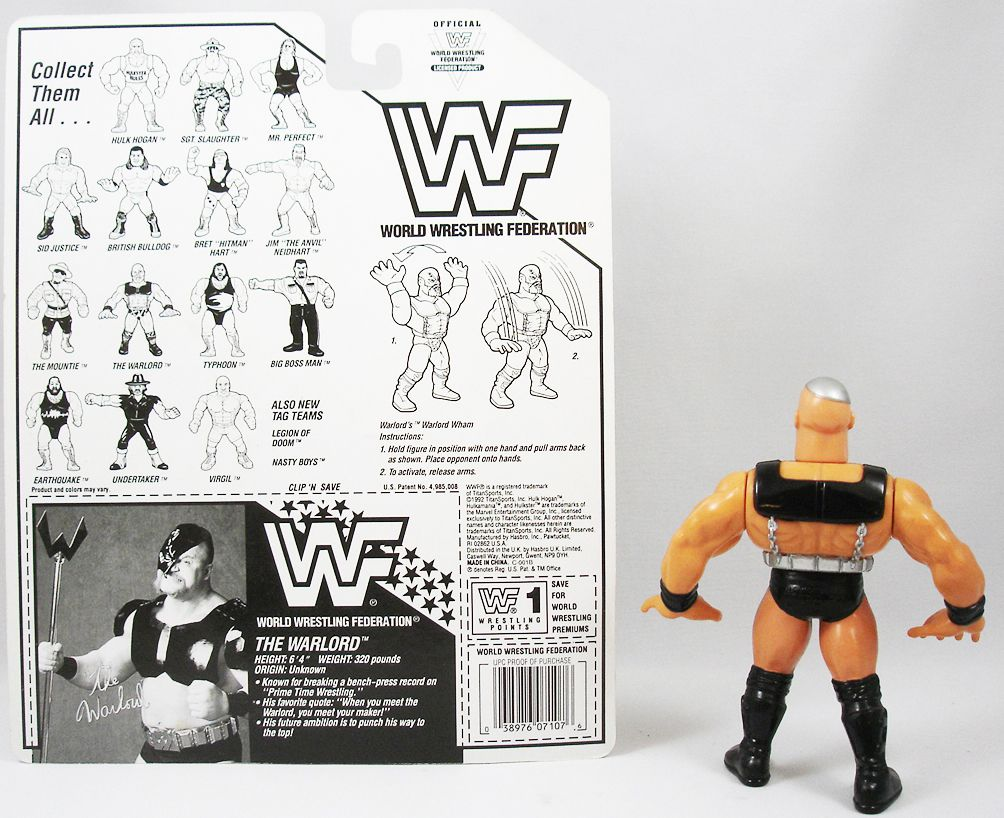WWF Hasbro - Warlord (loose with USA cardback)
