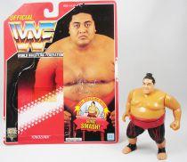 WWF Hasbro - Yokozuna v.1 (loose with USA cardback)
