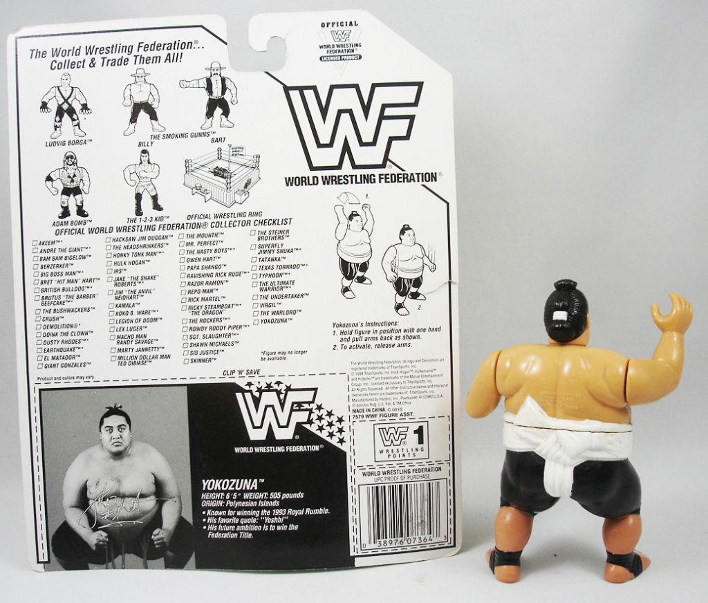 WWF Hasbro - Yokozuna v.2 (loose avec carte USA)