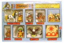 Yakari - Schleich 1984 - The little indian and his friends (set of 7 pvc figures & accessory)