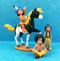Yakari (Cartoon series 2005) - Bully - Set of 4 PVC figures