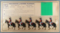 Ycé Paris - Mint Plate of 5 Rhodoid Figures to Cut - Mounted Cow-Boys