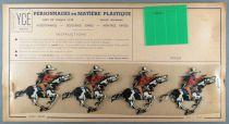 Ycé Paris - Planche 4 Figurines Rhodoïd à Découper - Cavaliers Cow-Boys