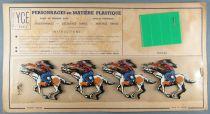Ycé Paris - Planche 4 Figurines Rhodoïd à Découper - Cavaliers Indiens