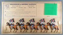 Ycé Paris - Planche 5 Figurines Rhodoïd à Découper - Cavaliers Indiens