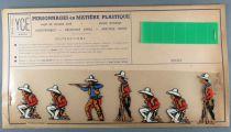 Ycé Paris -¨Planche 7 Figurines Rhodoïd à Découper - Piétons Cow-Boys 1