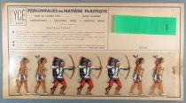 Ycé Paris -¨Planche 7 Figurines Rhodoïd à Découper - Piétons Indiens 1
