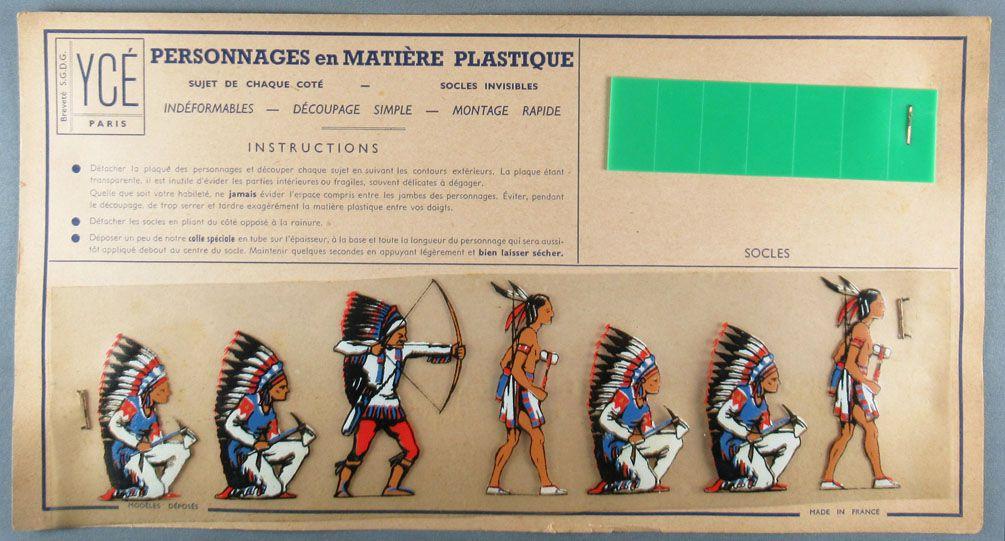 Ycé Paris -¨Planche 7 Figurines Rhodoïd à Découper - Piétons Indiens 2