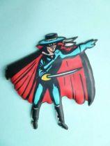 Zorro - Figurine Plate Souple Chocolat Cantaloup Vintage Puffi Sticker