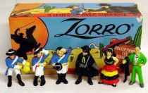 Zorro - Set of 6 Kinder-like miniature figures (loose with box)