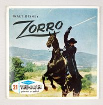 Zorro - View-Master (Sawyer\'s Inc.) - Set of 3 discs (21 Stereo Pictures) with booklet
