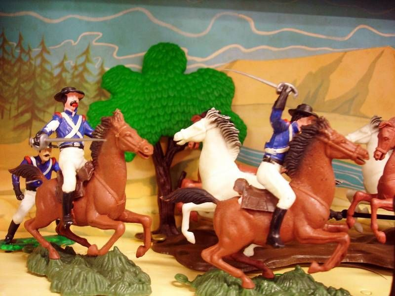 Zorro figure set display : Attack of the Overland Stage Express - Dulcop figure (mint on card)